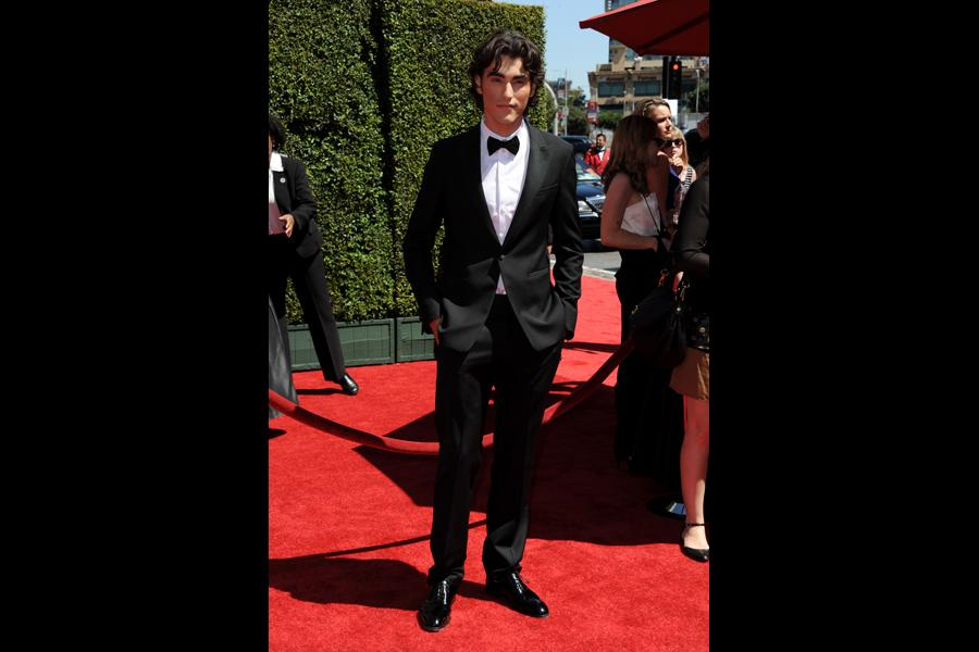 Blake Michael of Dog with a Blog arrives for the 2014 Primetime Creative Arts Emmys.