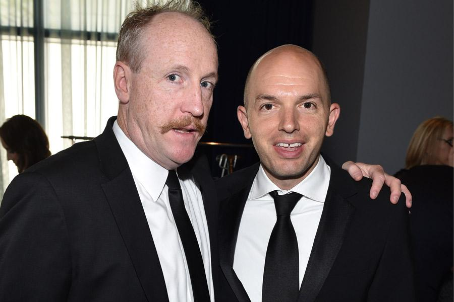 Matt Walsh of Veep and Paul Scheer of The Hotwives of Orlando at the 2014 Primetime Creative Arts Emmys.