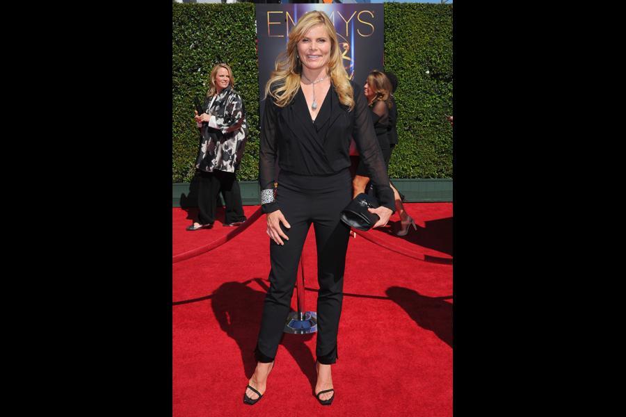 Mariel Hemingway arrives for the 2014 Primetime Creative Arts Emmys.