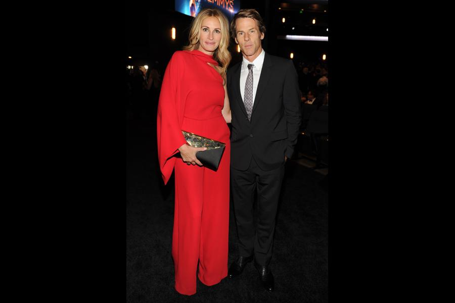 Julia Roberts of The Normal Heart and Danny Moder at the 2014 Primetime Creative Arts Emmys.