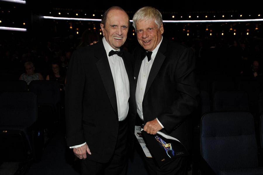 Bob Newhart and Robert Morse at the 2014 Primetime Creative Arts Emmys.