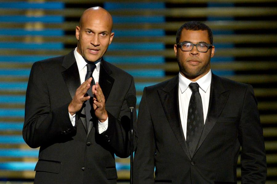 Presenters Keegan-Michael Key and Jordan Peele at the 2014 Primetime Creative Arts Emmys.