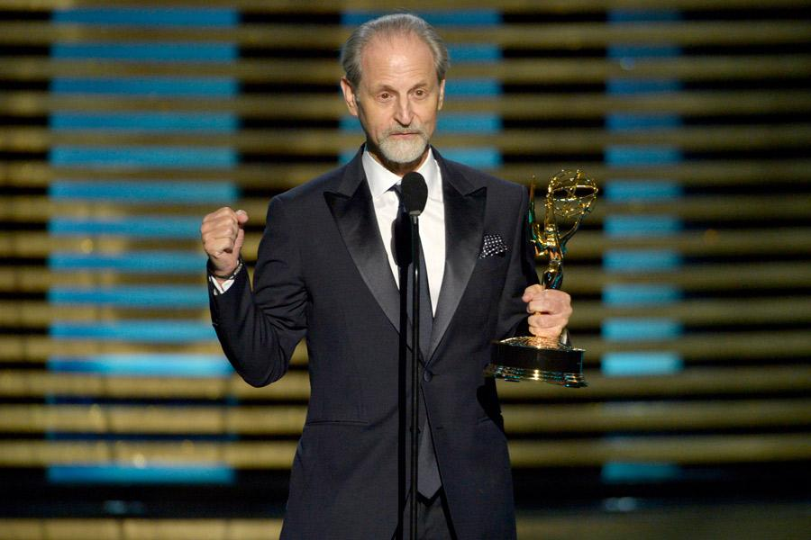 Eddie Kramer accepts the award for outstanding sound mixing for nonfiction programming for his work on American Masters.