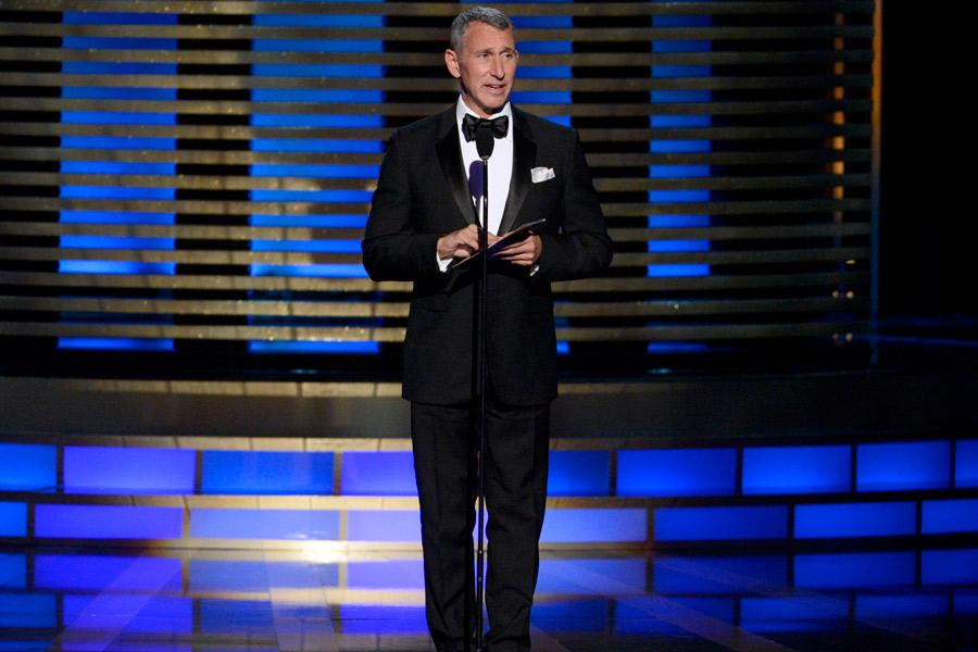 Adam Shankman presents an award at the 2014 Primetime Creative Arts Emmys.
