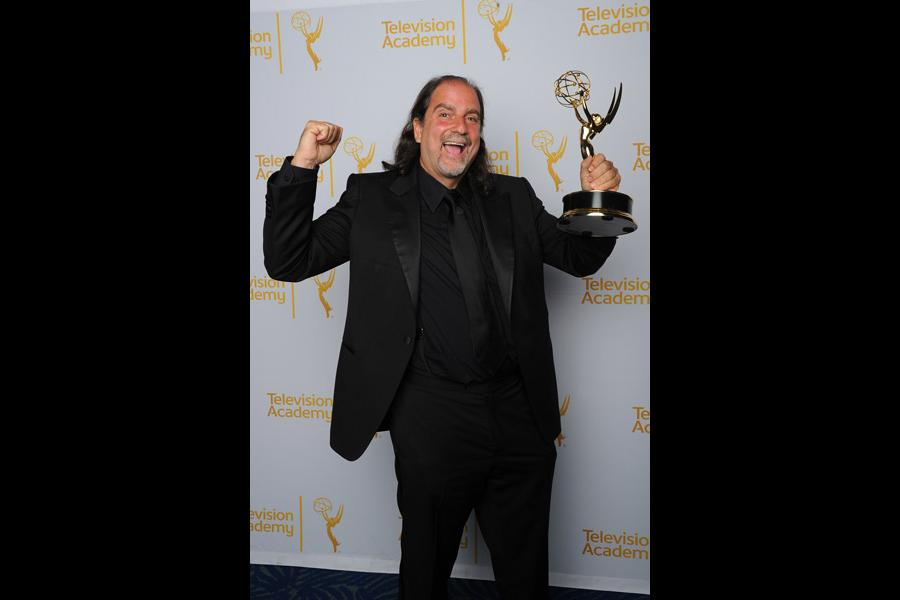 67th Annual Tony Awards director Glenn Weiss celebrates his win at the 2014 Primetime Creative Arts Emmys.