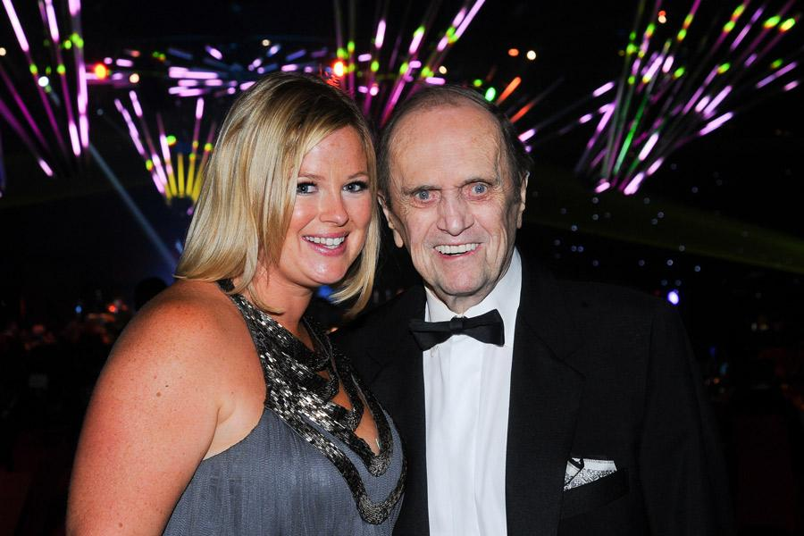 Bob Newhart (r) and daughter Courtney (l) at the 2014 Primetime Creative Arts Emmy ball.