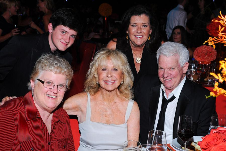 Spike Jones Jr. (r) and guests at the 2014 Creative Arts Emmys ball.