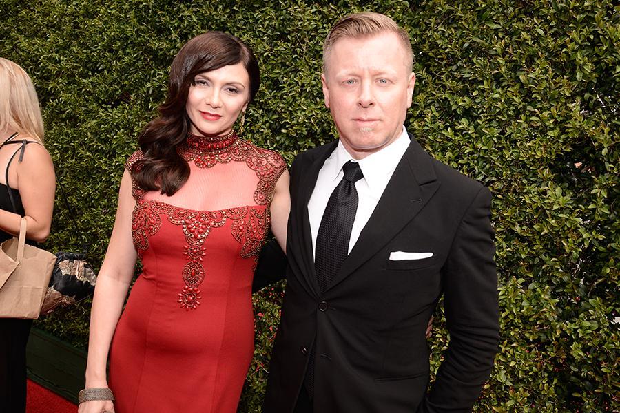 Mina Korzeniowski and Abel Korzeniowski on the Red Carpet at the 2015 Creative Arts Emmys.