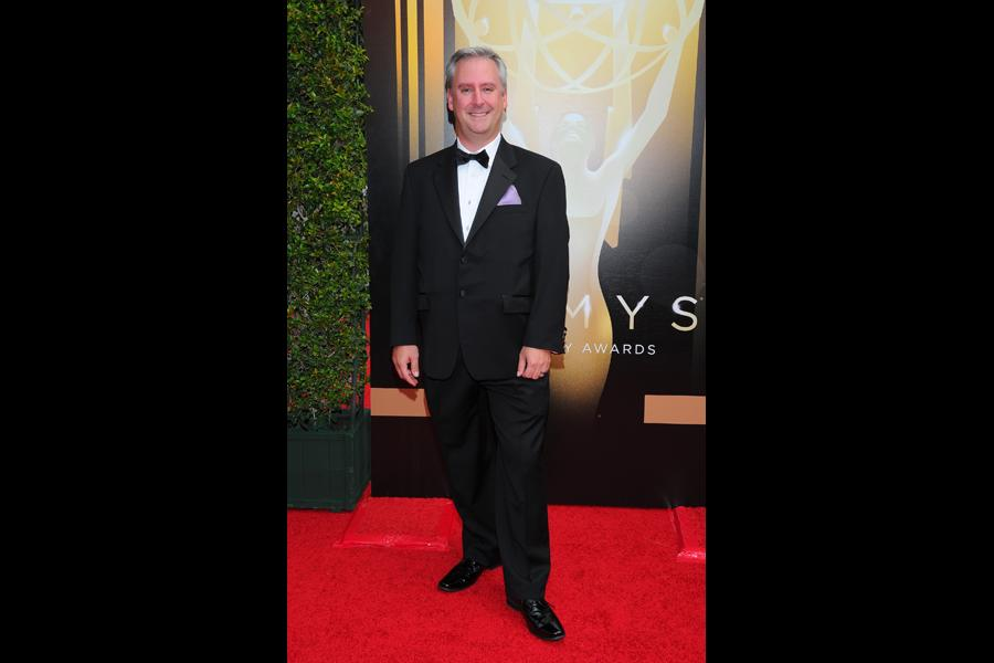 Kevin Kliesch on the red carpet at the 2015 Creative Arts Emmys.