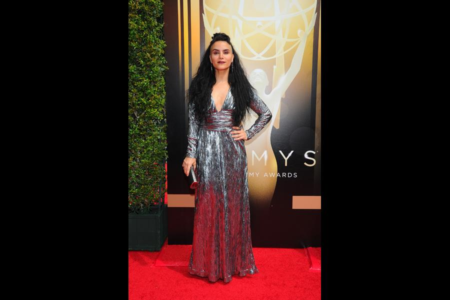 Sonya Tayeh on the red carpet at the 2015 Creative Arts Emmys.