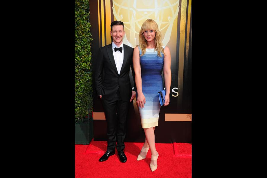 Rhys Ernst and Zackary Drucker on the red carpet at the 2015 Creative Arts Emmys.