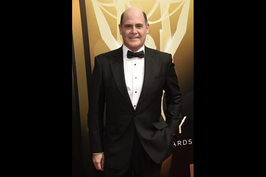 Matthew Weiner on the red carpet at the 2015 Creative Arts Emmys.