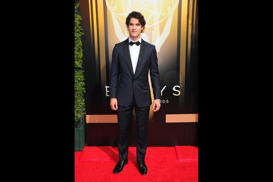 Darren Criss on the Red Carpet at the 2015 Creative Arts Emmys.