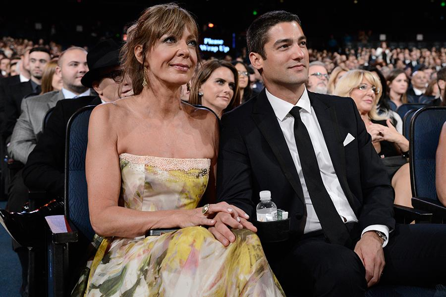 Allison Janney and Philip Joncas at the 2015 Creative Arts Emmys.