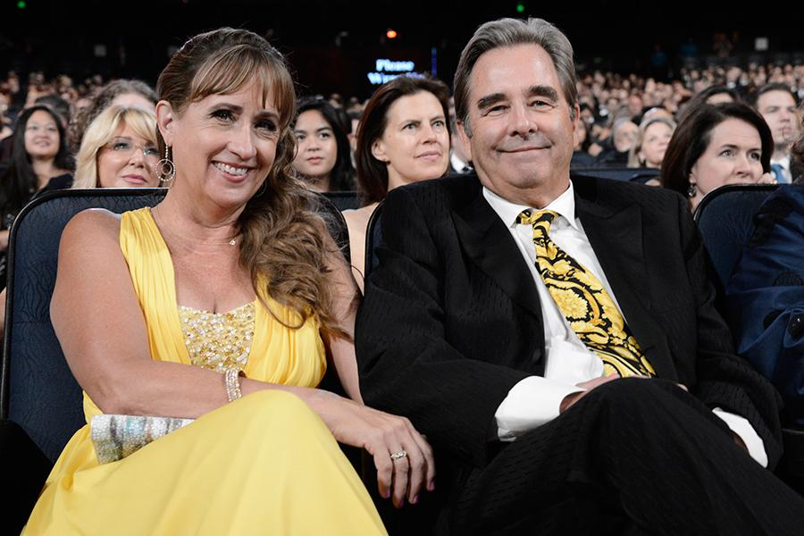 Wendy Treece Bridges and Beau Bridges at the 2015 Creative Arts Emmys.