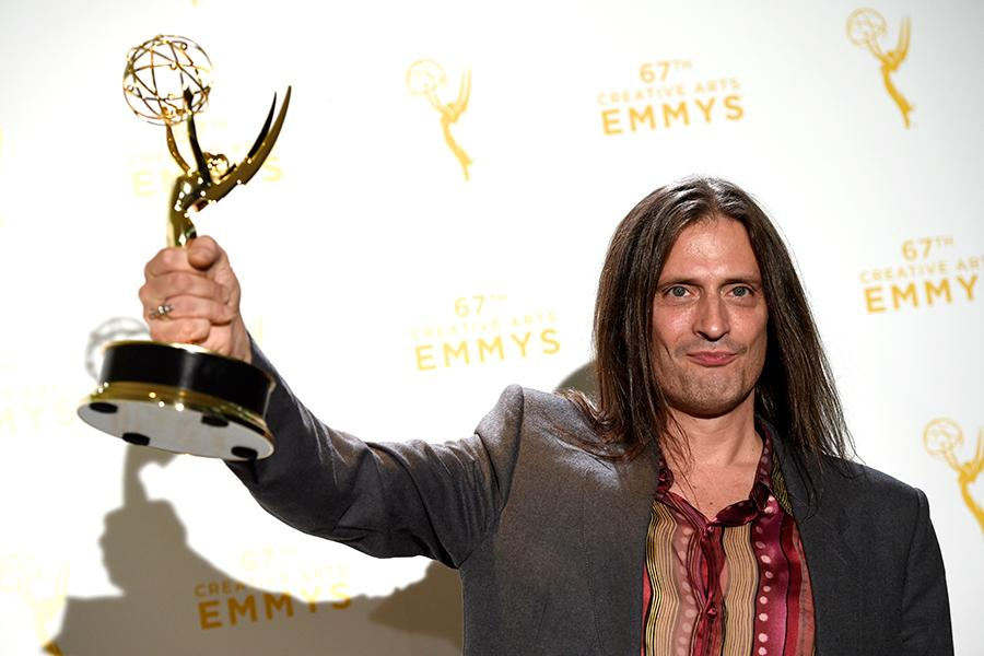 Jason Baker backstage at the 2015 Creative Arts Emmys.