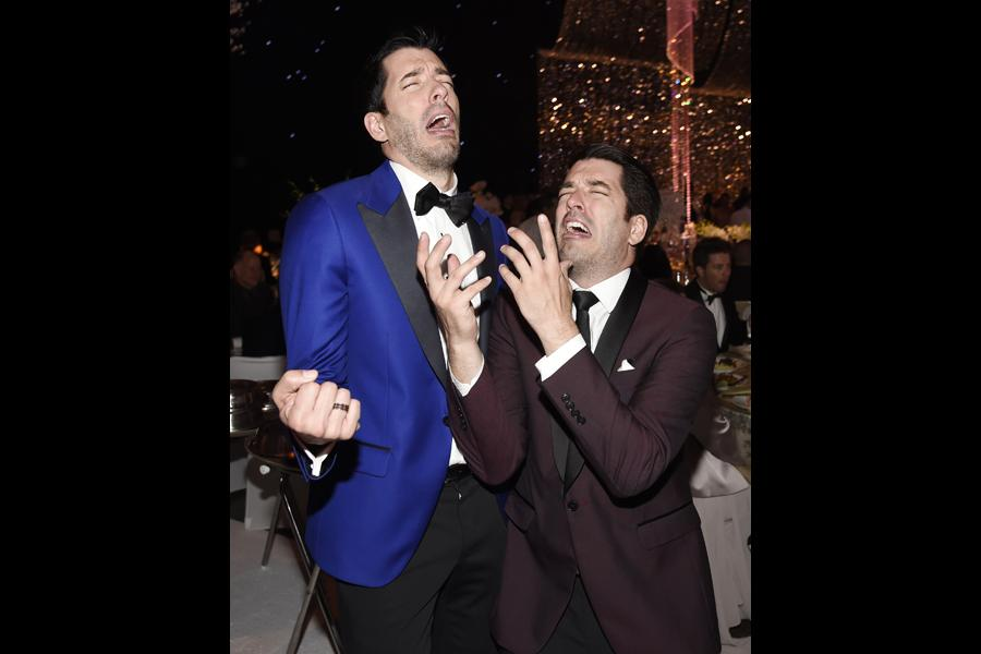 Drew Scott and Jonathan Scott at the 2015 Creative Arts Ball.