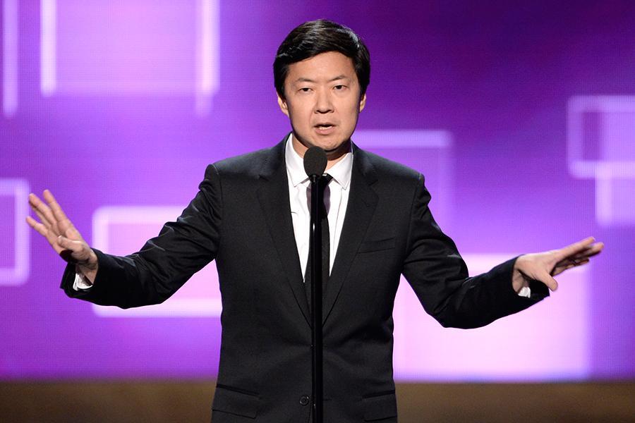 Ken Jeong presents an award at the 2015 Creative Arts Emmys.