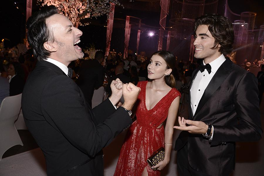 G. Hannelius and Blake Michael at the 2015 Creative Arts Ball.