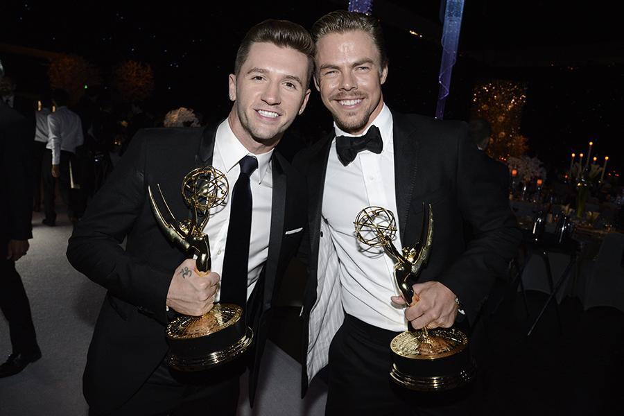 Travis Wall and Derek Hough at the 2015 Creative Arts Ball.