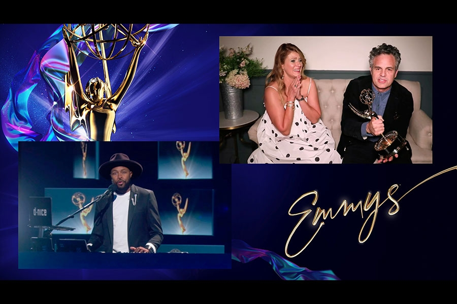 D-Nice presents the Emmy for Outstanding Lead Actor in a Limited Series or Movie to Mark Ruffalo for I Know this Much is True at the 72nd Emmy Awards.