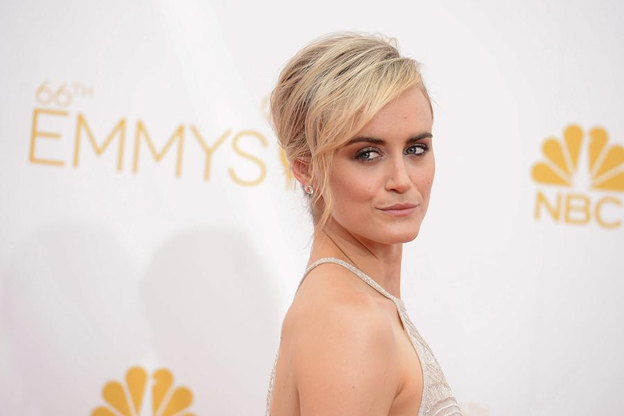 Taylor Schilling of Orange Is the New Black arrives at the 66th Emmy Awards.