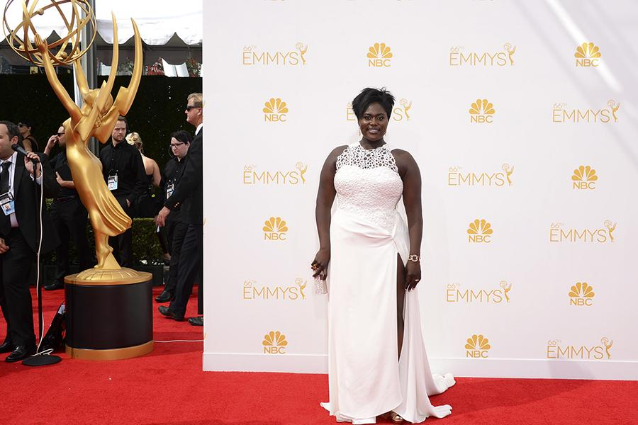 Danielle Brooks of Orange is the New Black arrives at the 66th Emmys.