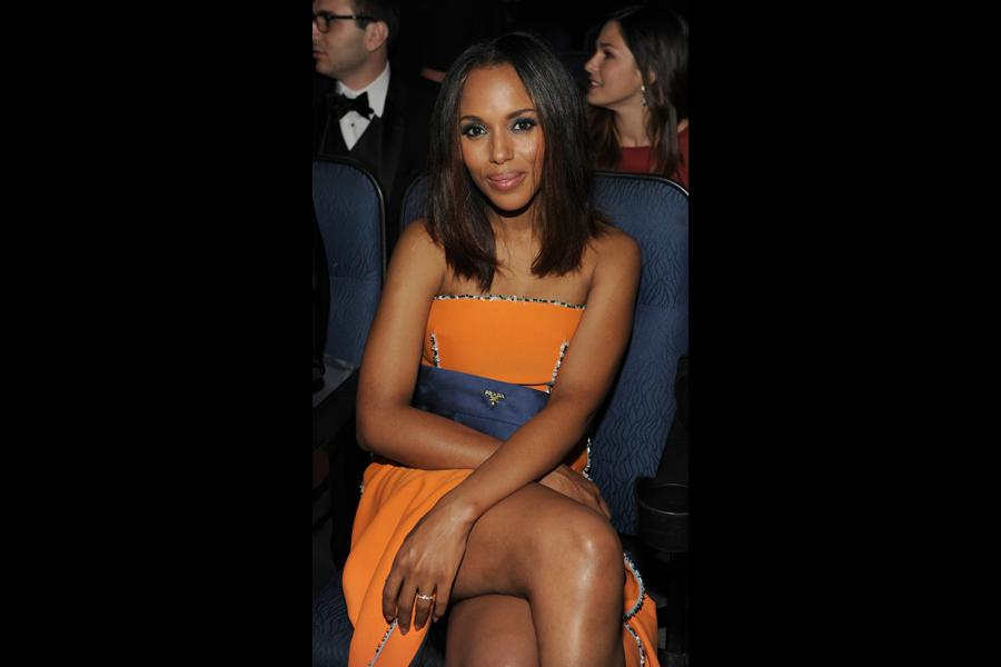 Kerry Washington of Scandal at the 66th Emmy Awards.