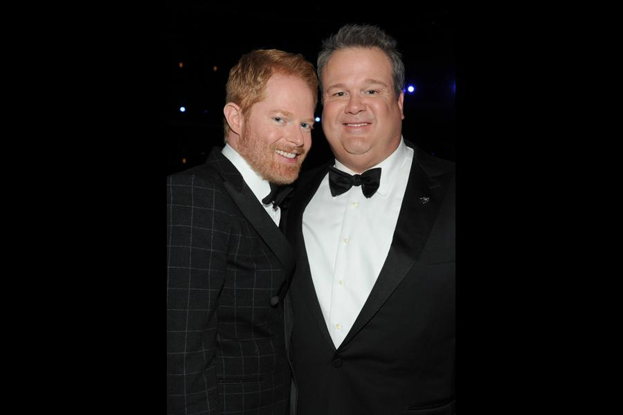 Jesse Tyler Ferguson (l) and Eric Stonestreet (r) at the 66th Emmys.