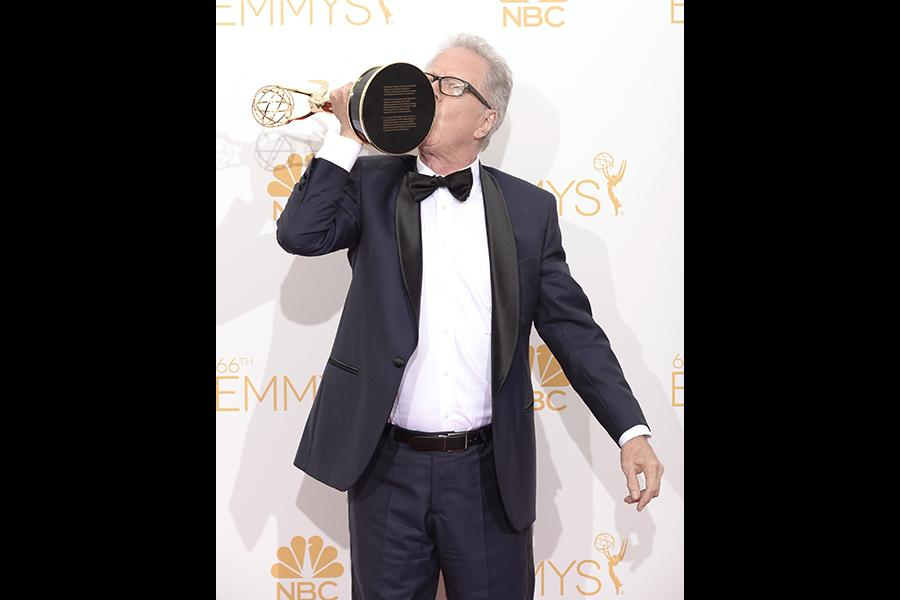 Fargo director Colin Bucksey celebrates his win at the 66th Emmy Awards.