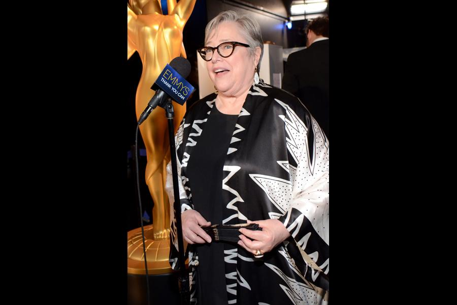 Kathy Bates of American Horror Story: Coven backstage at the 66th Emmys.