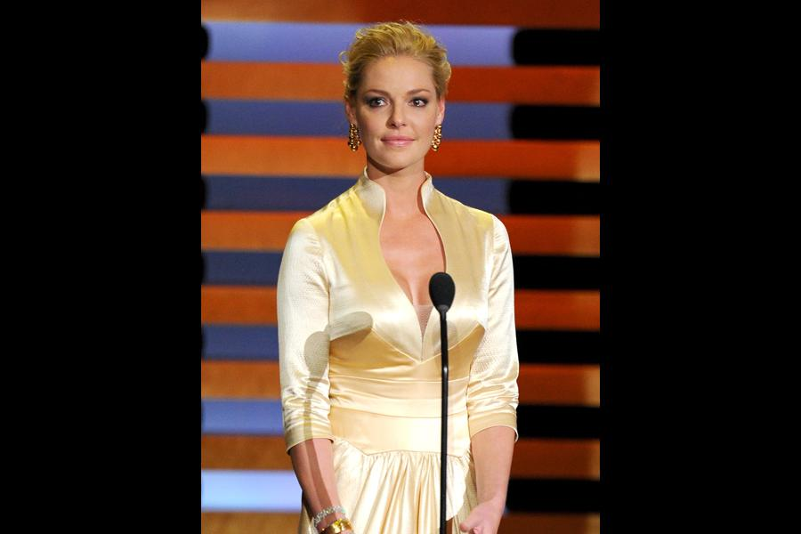 Katherine Heigl presents at the 66th Emmys.