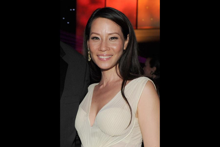 Lucy Liu of Elementary at the 66th Emmys Governors Ball.