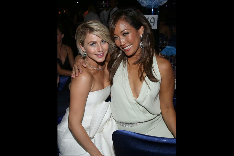 Julianne Hough (l) and Carrie Ann Inaba (r) of Dancing With The Stars at the 66th Emmys Governors Ball.