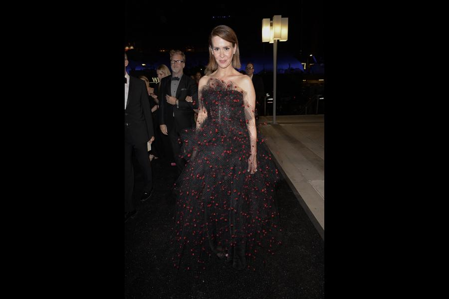 Sarah Paulson of American Horror Story at the 66th Emmys Governors Ball.
