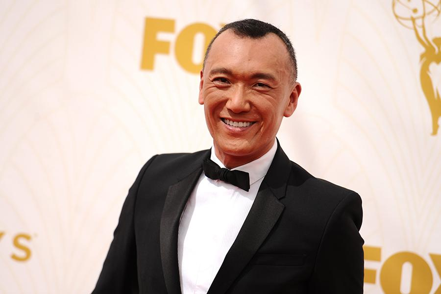 Joe Zee on the red carpet at the 67th Emmy Awards.