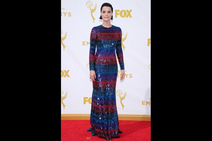 Jaimie Alexander on the red carpet at the 67th Emmy Awards.