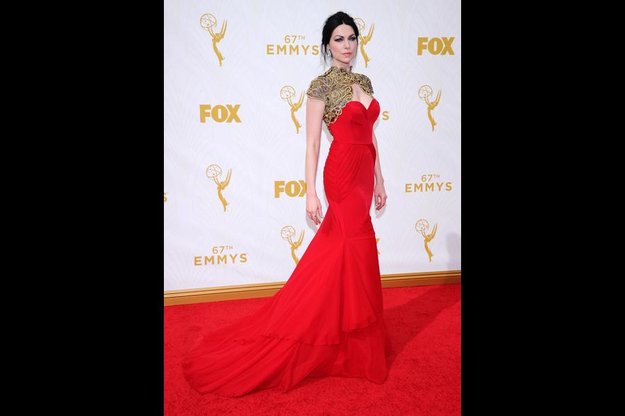 Laura Prepon on the red carpet at the 67th Emmy Awards.
