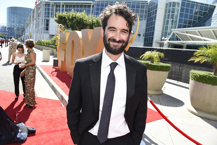 Jay Duplass on the red carpet at the 67th Emmy Awards.