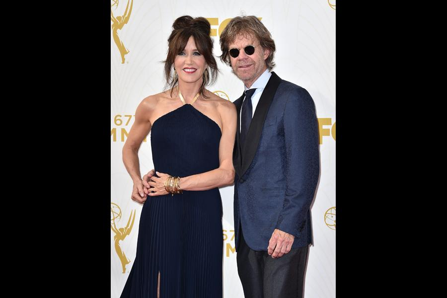 Felicity Huffman and William H. Macy on the red carpet at the 67th Emmy Awards.