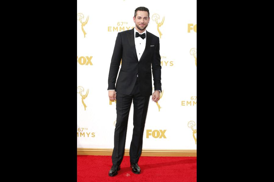Zachary Levi on the red carpet at the 67th Emmy Awards.