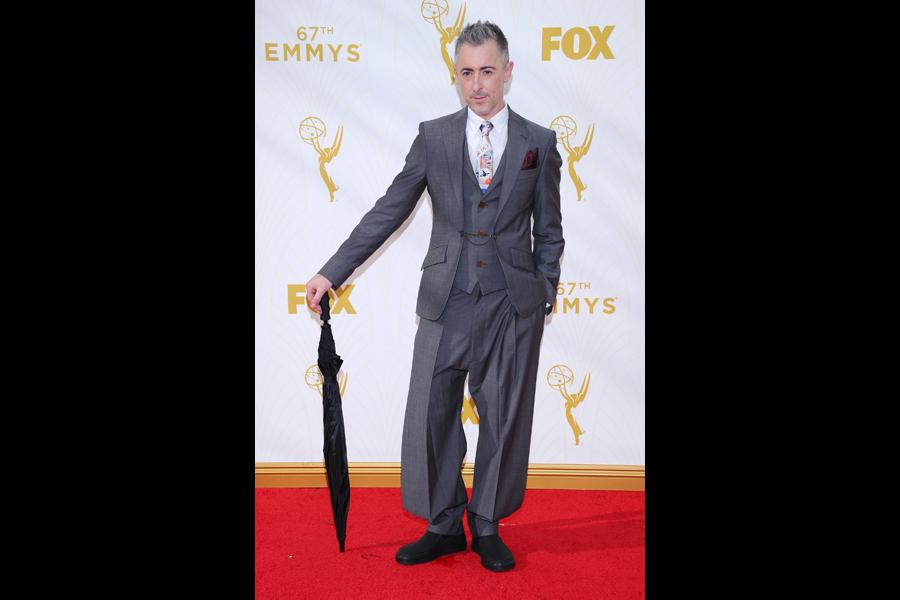 Alan Cumming on the red carpet at the 67th Emmy Awards.