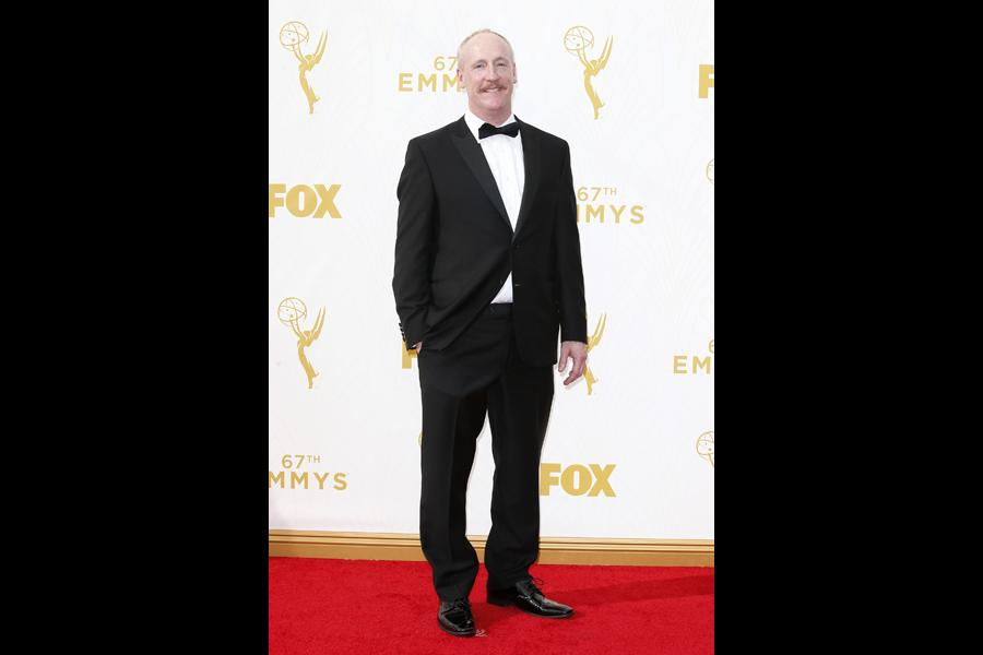 Matt Walsh on the red carpet at the 67th Emmy Awards.