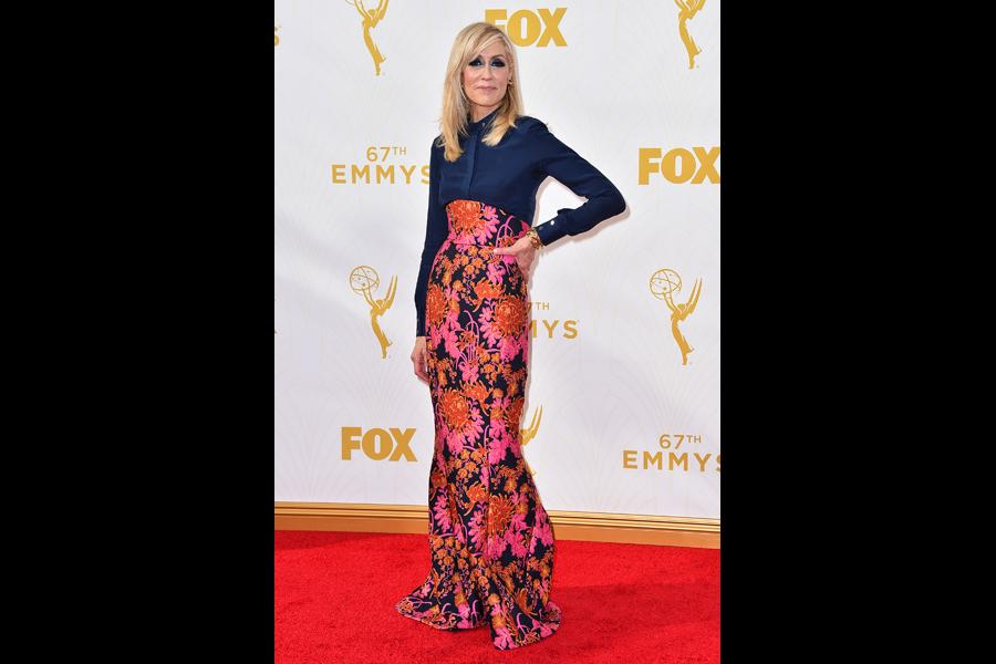 Judith Light on the red carpet at the 67th Emmy Awards.