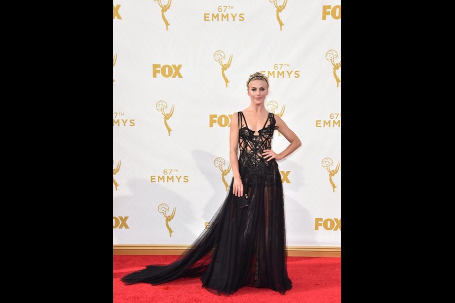 Julianne Hough on the red carpet at the 67th Emmy Awards.