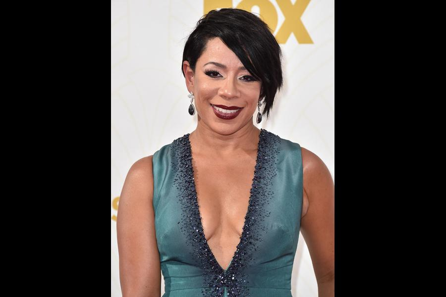 Selenis Leyva on the red carpet at the 67th Emmy Awards.