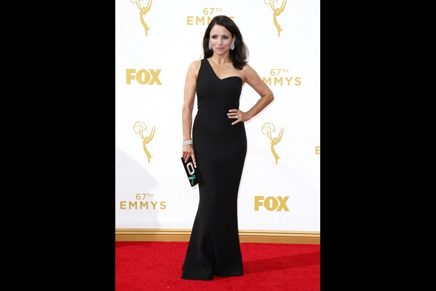 Julia Louis-Dreyfus on the red carpet at the 67th Emmy Awards.