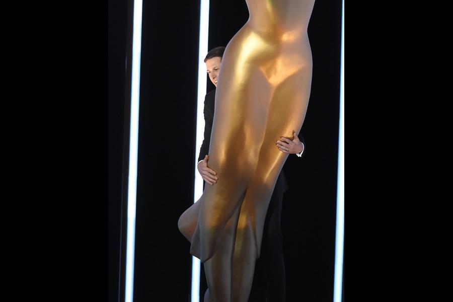 Host Andy Samberg at the 67th Emmy Awards.