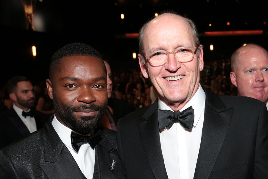 David Oyelowo and Richard Jenkins at the 67th Emmy Awards.