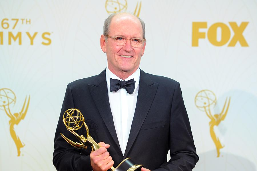 Richard Jenkins backstage at the 67th Emmy Awards.